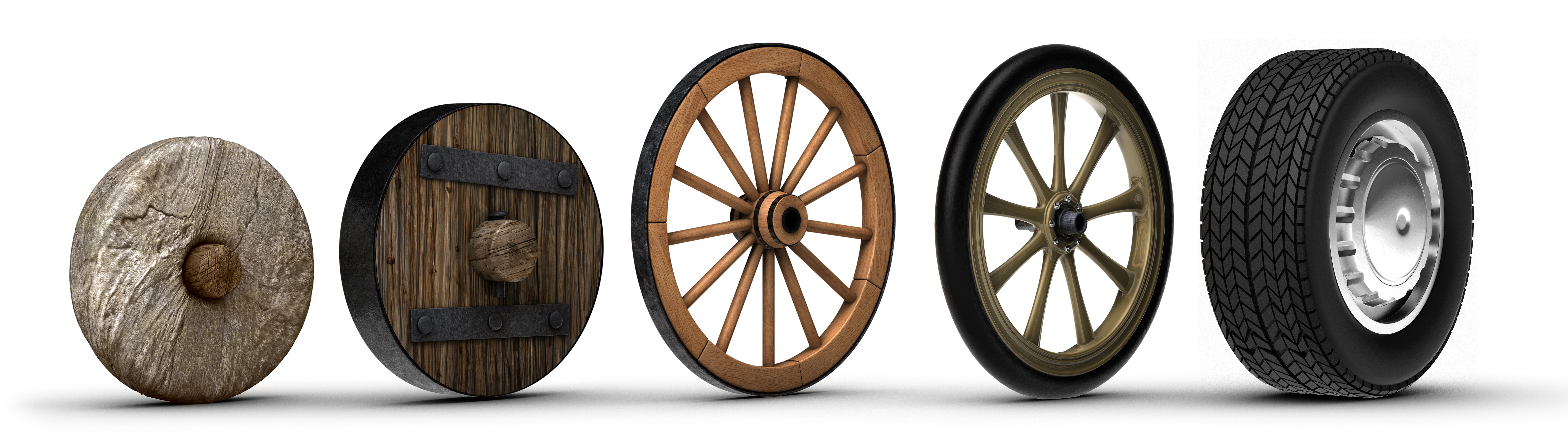 Multiple types of wheels