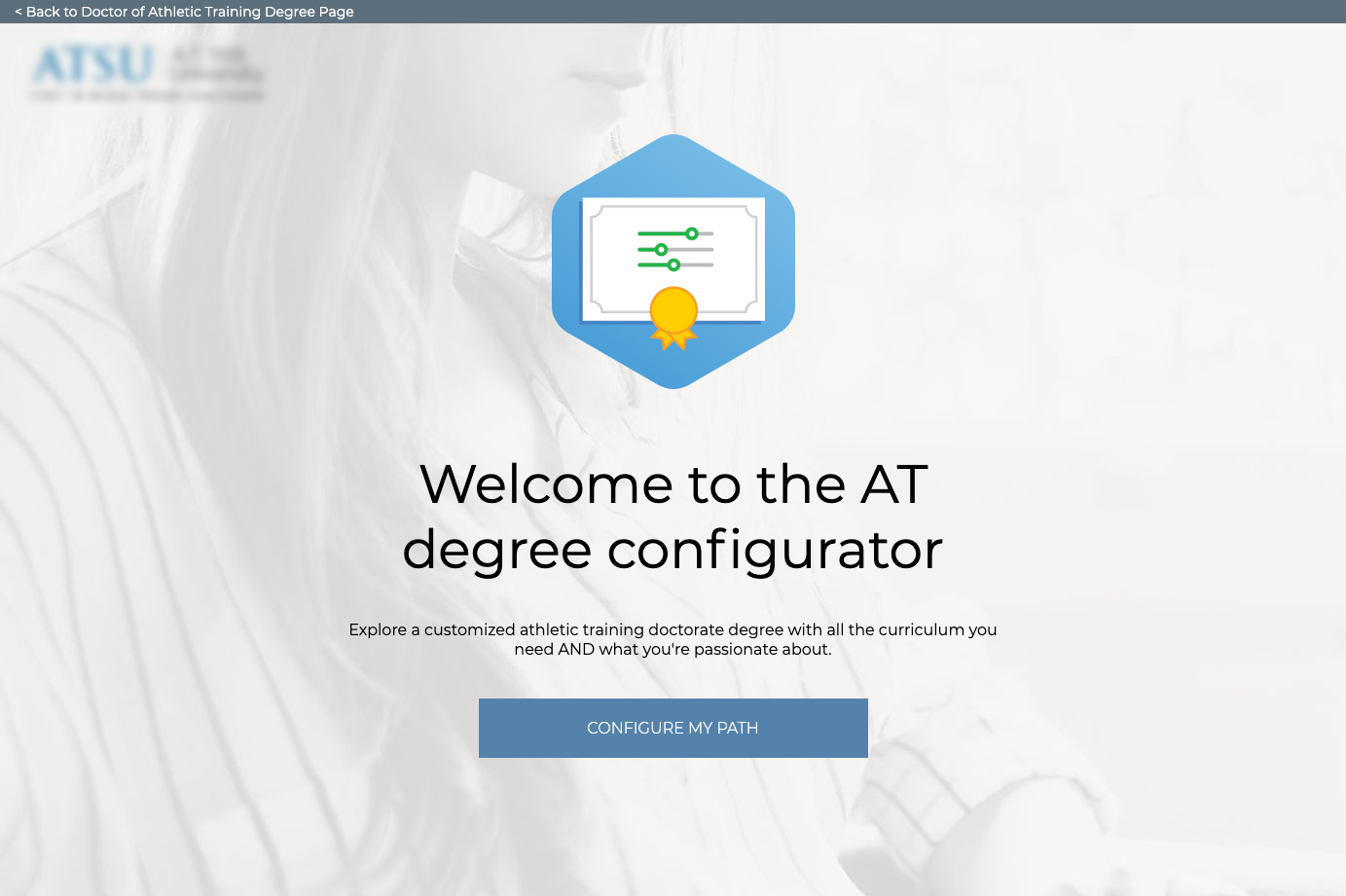 Screenshot of AT Degree Configurator