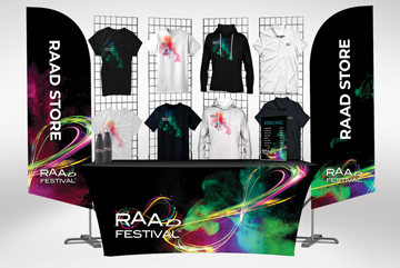 Merchandise Stands from Festival