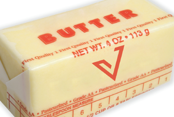 Stick of butter with software company's branding