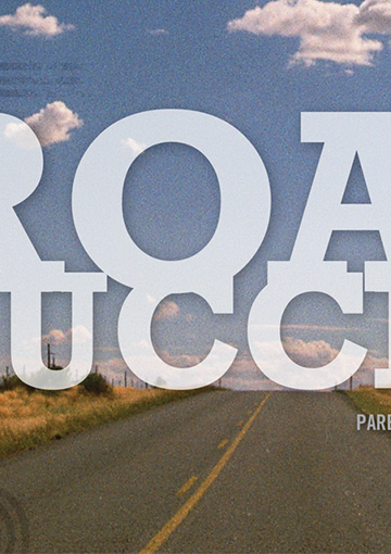 High-resolution zoomed in image of UAT's Parent's Guide cover, which shows a desert road.